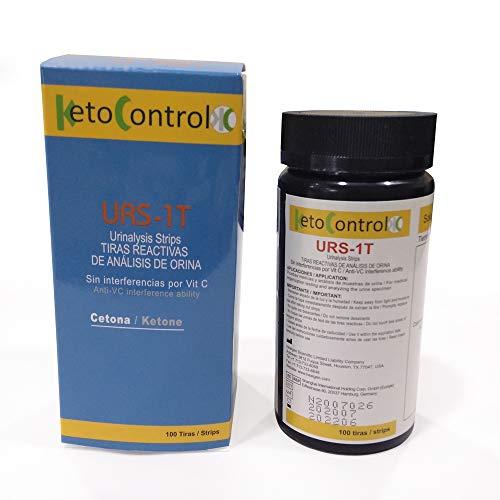 Tiras de Orina KetoControl - 100 tiras reactivas para medir las cetonas en orina