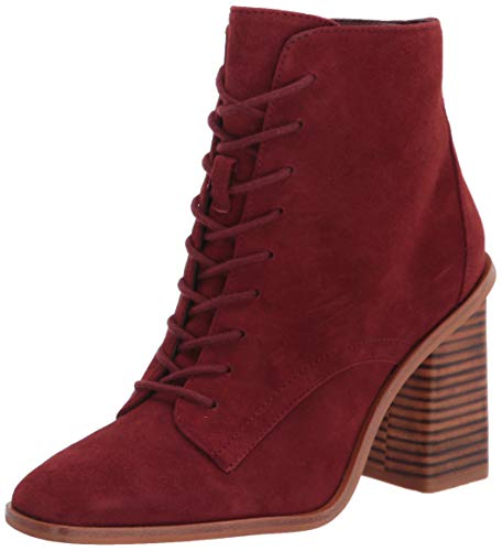 Vince Camuto womens Dreveri Lace Up Ankle Boot, Rich Russet, 8.5 US