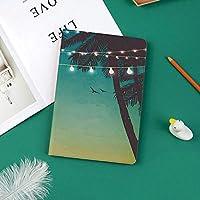 新しい iPad Pro 11 ケース (2018モデル)スタンド機能 iPad Pro 11 インチ (2018新型) 保護カバー 軽量 薄型 シンプル 2つ折タイプ 全面保護型 傷つけ防止 iPad pro 11手帳型 (iPad pro 11 (2018))小さなランタンと島のヤシの木と夜のビーチの夕日アートプリント