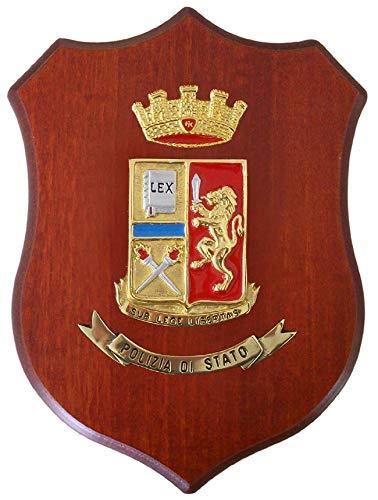 Crest Gigante heráldico policía de Estado, idea regalo de colección, tamaño 45 x 32 cm, producto italiano, última pieza Art. PSG