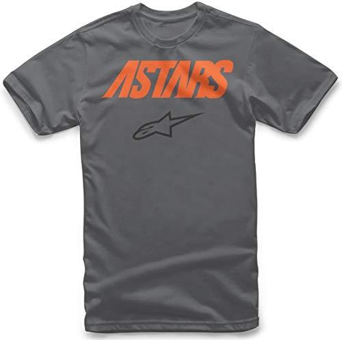 Alpinestars Angle Combo tee Camiseta, Gris (Charcoal 18), X-Large para Hombre