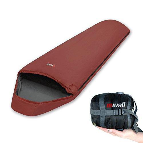 Mivall Patrol Lava Mumienschlafsack, leicht, Ultraleicht, kleines Packmaß, Hüttenschlafsack für Sommer