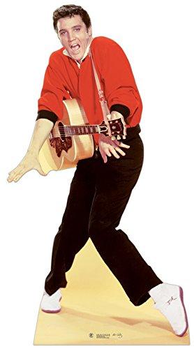 Star Cutouts kartonnen display van Elvis rode jas en gitaar
