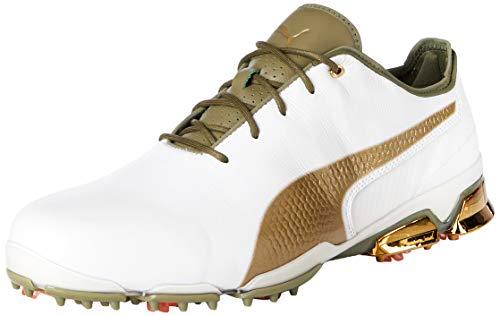 Puma Ignite Proadapt G_lux, Herren Golfschuhe, Weiß (PUMA White-Gold 01), 43 EU