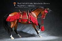 [Tbmodel] 1/6フィギュア用 馬+馬具 フルセット モデル 日本風 馬具 人形 コスプレ アハルテケ馬