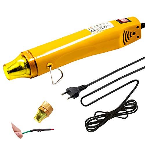 200 cm de largo cable pistola de aire caliente para tubos termorretráctil, pequeña artesanía, 300 W, elección de dos temperaturas