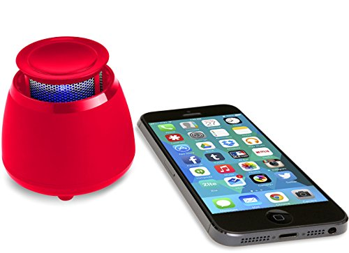BLKBOX Wireless Bluetooth Speaker POP360 Hands Free Bluetooth Speaker - for iPhones, iPads, Androids, Samsung and All Phones, Tablets, Computers (Rockin' Red)