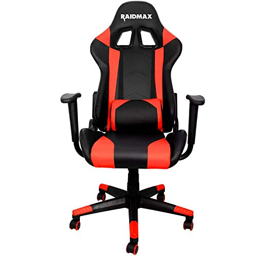 RAIDMAX Silla Gamer Drakon Gaming Reclinable Negro/Rojo DK702RD