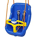 Pilsan Babyschaukel 2 in 1 Big Swing 06130, hohe Rückenlehne, abnehmbarem Bügel blau