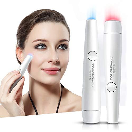 TOUCHBeauty PL-1693U - Dispositivo de fototerapia con LED rojo y azul para tratamiento del acné y cicatrices, para eliminar el acné y reducir las arrugas