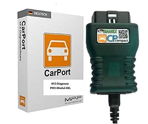Carport KKL-Modul Pro Diagnose Software für VW, Audi, Seat, Skoda von 1996 bis 2004 mit original Interface CP-Compact