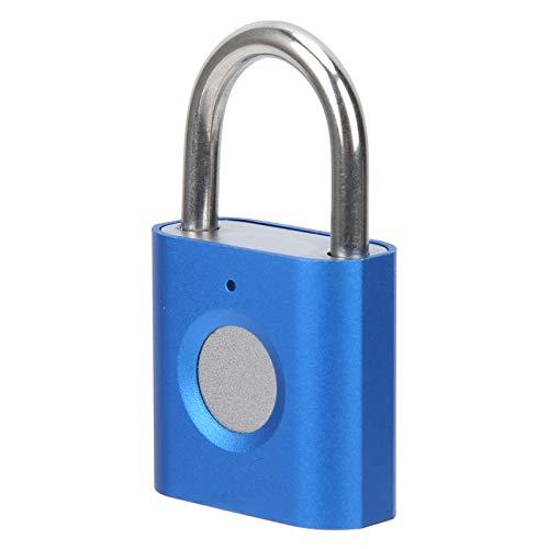 Candado inteligente con huellas dactilares, antirrobo, sin llave, con carga USB, cerradura de seguridad con chip inteligente portátil para armarios de maleta