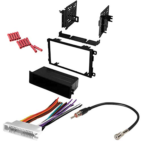 CACHÉ KIT110 Bundle with Car Stereo Installation Kit for 2000 – 2005 Pontiac Bonneville – in Dash Mounting Kit, Wire Harness for Double Din or Single Din Radio Receivers (4 Item)