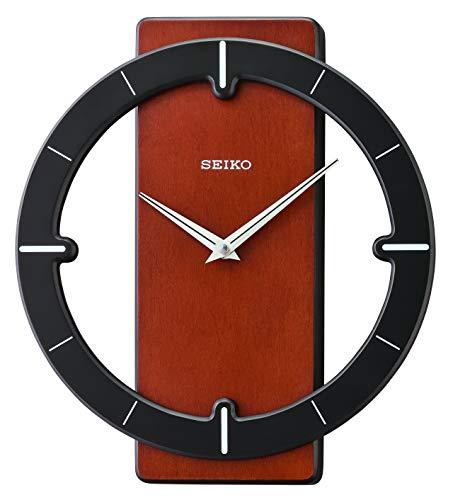 Seiko Relojes de Pared de Madera, Color Negro, 322 mm