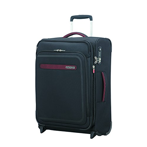 American Tourister Airbeat - Upright 55/20 Expandable Equipaje de mano, 55 cm, 48 liters, Negro (Universe Black)