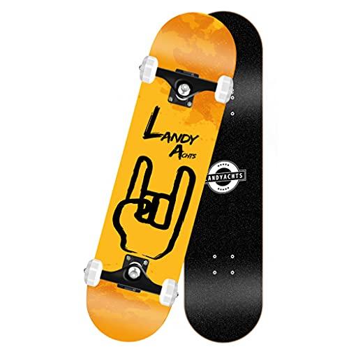 qiaoliang 31'x 8' Skateboards para Principiantes Kids Boys Girls Adultos Jóvenes, Patinetas Estándares Completas, 7 Patas Maple Deck Pro Skateboards, Longboard, Carga Rodamiento 385 Lbs