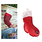 SHUIZHUYU 1 Stück Santa Drink Getränkespender Strumpf Weinbeutel Weihnachtsfeier Faltbare Trinkwasserbehälter Tasche Easy Carry für Weihnachtsfeier