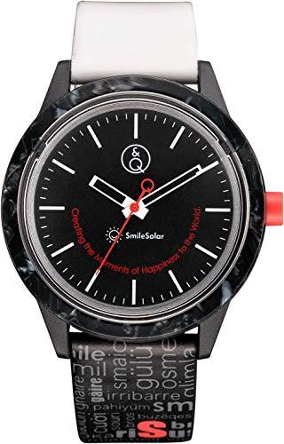 [シチズン Q&Q] 腕時計 キューアンドキュー スマイルソーラー スマイルソーラー アセテート 2018 バーゼルワールド限定モデル 10気圧防水 RP24-002 メンズ ブラック