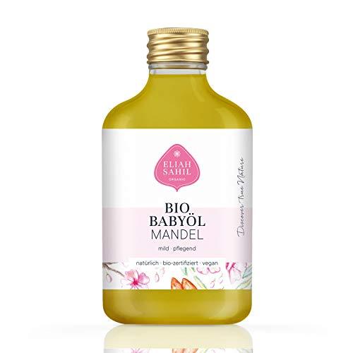 BIO Babyöl aus feinsten Mandeln - parfümfrei und ohne künstliche Zusatzstoffen - 100% BIO zertifizierte Naturkosmetik - VEGAN und Tierversuchsfrei - 100 ML Mandelöl