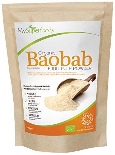 MySuperfoods Baobab Orgánico en Polvo 500g, Fuente Natural de Potasio
