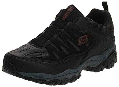 Skechers Sport Men's Afterburn Extra Wide Fit Wonted Loafer,black/charcoal,13 4E US