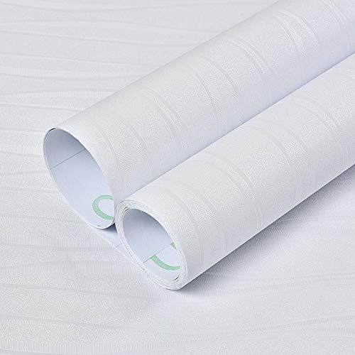 kengbi Moderne minimalistische geprägte Tapetenrolle Moderne vertikaler Streifen-Tapete 3D Geprägte Beflockung Non-Woven-Wand-Papier for Wohnzimmer Schlafzimmer-Hintergrund-Wand Home 3D-Dekor