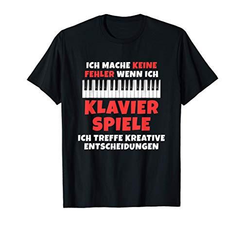 Pianisten Witz Geschenk für Klavier Spieler T-Shirt