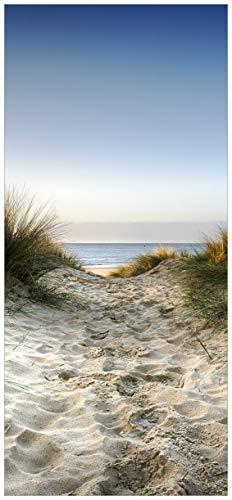 posterdepot ktt0541 deurbehang deurposter weg door de duinen naar het strand op zee, afmetingen 93 x 205 cm