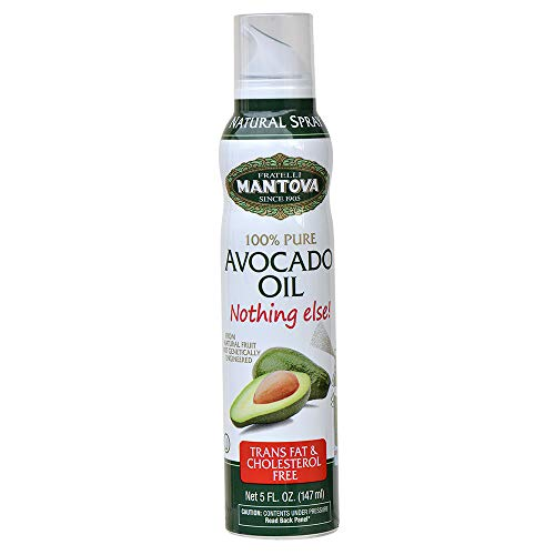 Mantova Avocado Oil, 100% Pure Cooking Oil Spray, perfect for healthy Keto snacks, baking, grilling, seasoning, or cooking, our oil dispenser bottle lets you spray, drip, or stream with no waste, 5 oz