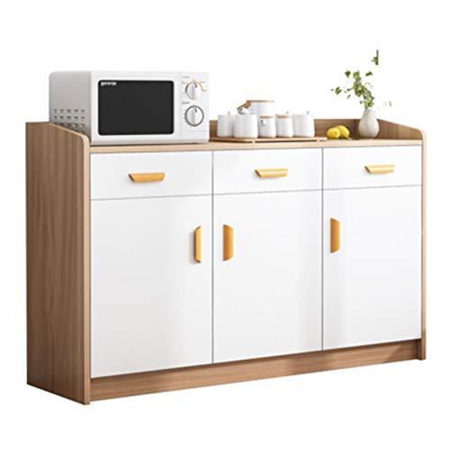 Aparador Moderno Minimalista Locker Almacenamiento Gabinete Armario Almacén Sala de estar Cocina Gabinete lateral Comedor Gabinete lateral Para la Entrada ( Color : Natural , Size : 120x35x80cm )