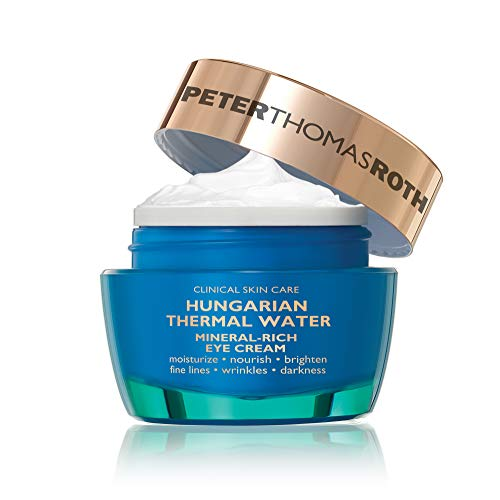 Hungarian Thermal Water Mineral-Rich Eye Cream, Hydrating Eye Cream with Botanicals, Peptides and Caffeine for Fine Lines, Wrinkles, Crow's Feet and Darkness