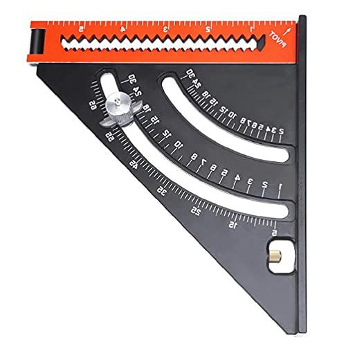 Regla cuadrada triángulo plegable goniómetro triángulo regla cuadrada con imán base herramienta de medición extensible para carpintería