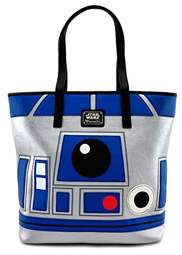 Loungefly x Star Wars - R2-D2 BB-8 Two Sided Droid Design - Tote Bag Purse - Faux Leather