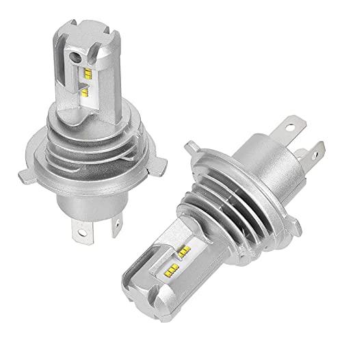 FANGFANGWAN Luces de Cabeza automática de 2pcs. H4 9003 HB2 Coche DIRIGIÓ Luces de vehículos de reemplazo de Bombillas (Color : Silver)