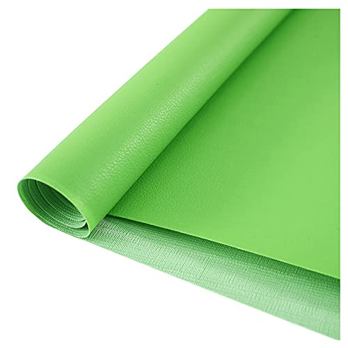 wangk Color Sólido Polipiel Tela Se Vende En Múltiplos Piel Sintética para Tapizar Cojines O Forrar Objetos Ancho 138cm-Esmeralda 1.38x15m