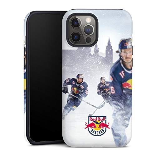 DeinDesign Panzer Handyhülle kompatibel mit Apple iPhone 12 Pro robuste Outdoor Hülle Schutzhülle matt EHC Red Bull München Offizielles Lizenzprodukt Eishockey