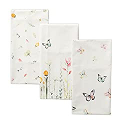 floral and butterfly tea towel set for spring decor