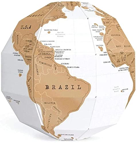 Globe World 3D Faça você mesmo Mapa do mundo Travel Scratch Globe Stereo Assembly Scratch Globe Tellurion Conjunto Geografia Acessórios de hardware