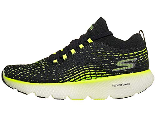 Skechers Men's Max Road 4, Black/Lime, 9 D