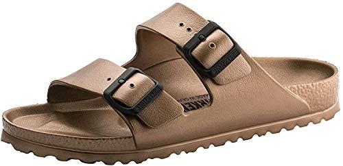 Birkenstock Unisex Arizona Essentials EVA Metallic Copper Sandals - 39 Narrow EU