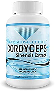 Absonutrix Cordyceps Sinensis Extract  Made in USA  120 Veg Capsules Increased Immunity and Energy Levels