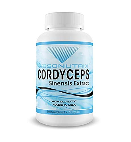Absonutrix Cordyceps Sinensis Extract Made in USA 120 Vegetable Capsules 1000mg Immunity and Increase Energy All Natural