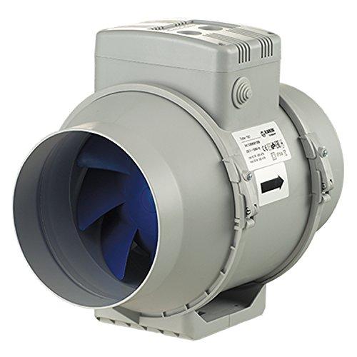 Blauberg UK Turbo-150Estrattore d'aria in linea a flusso misto, 150mm, 1 pz, coloregrigio, grigio, TURBO-150 173 wattsW, 240 voltsV