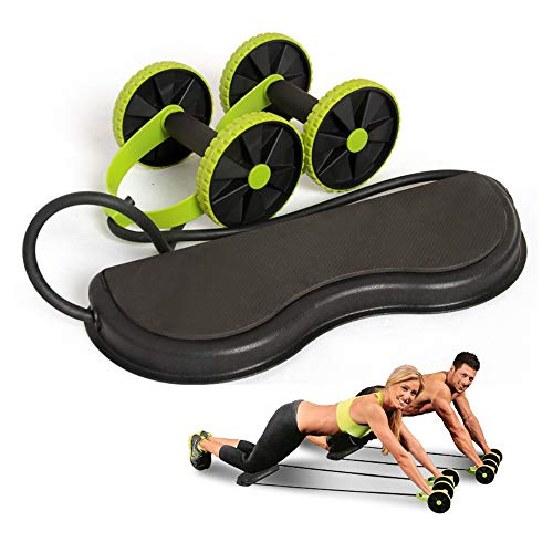 Abdominale Waist Afslanken Trainer, Exerciser Roller Core Double AB Wiel Fitness Equipment (16X43x5cm)