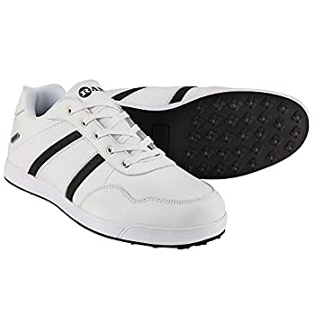 RAM FX Comfort Mens Waterproof Golf Shoes - White/Black 11