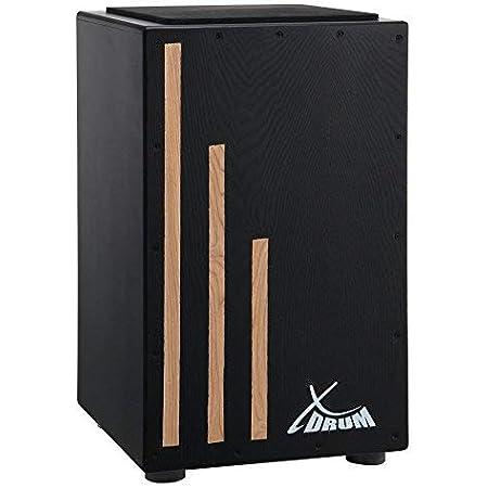 XDrum Primero Cajon, inclusa borsa (rullante, tamburo a scatola, scatola per batteria, legno), Negro