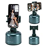 Smart Tracking Holder,360°Rotation Auto Object Face Tracking Robot Cameraman Smart AI Gimbal Cellphone Mount Tracking Tripod Selfie Stick Hands Free Live Streaming/Vlogging/Video Shooting(Green)
