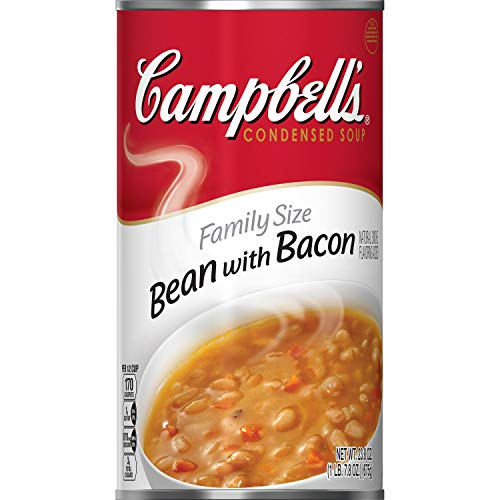 Campbell'sCondensed Family Size Bean with Bacon Soup, 23 oz. Can (Pack of 12)