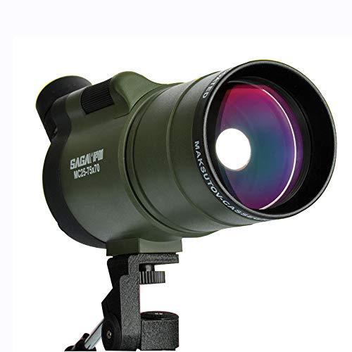 PIGE 25-75 * 70 Spotting Scope, Télescope Monoculaire Télescope Astronomique Haute-Vision Anti-buée Vision Nocturne Zoom Grand Objectif Objectif Matériau Métallique