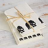 Paper High -Set de papel y sobres para carta (125 x 180 mm), diseño de elefantes